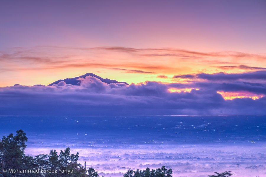 Sunrise over Mount Merapi