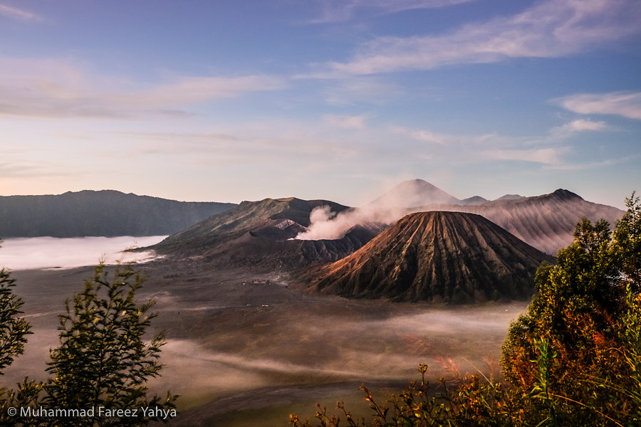 Mount Bromo and Mount Batuk